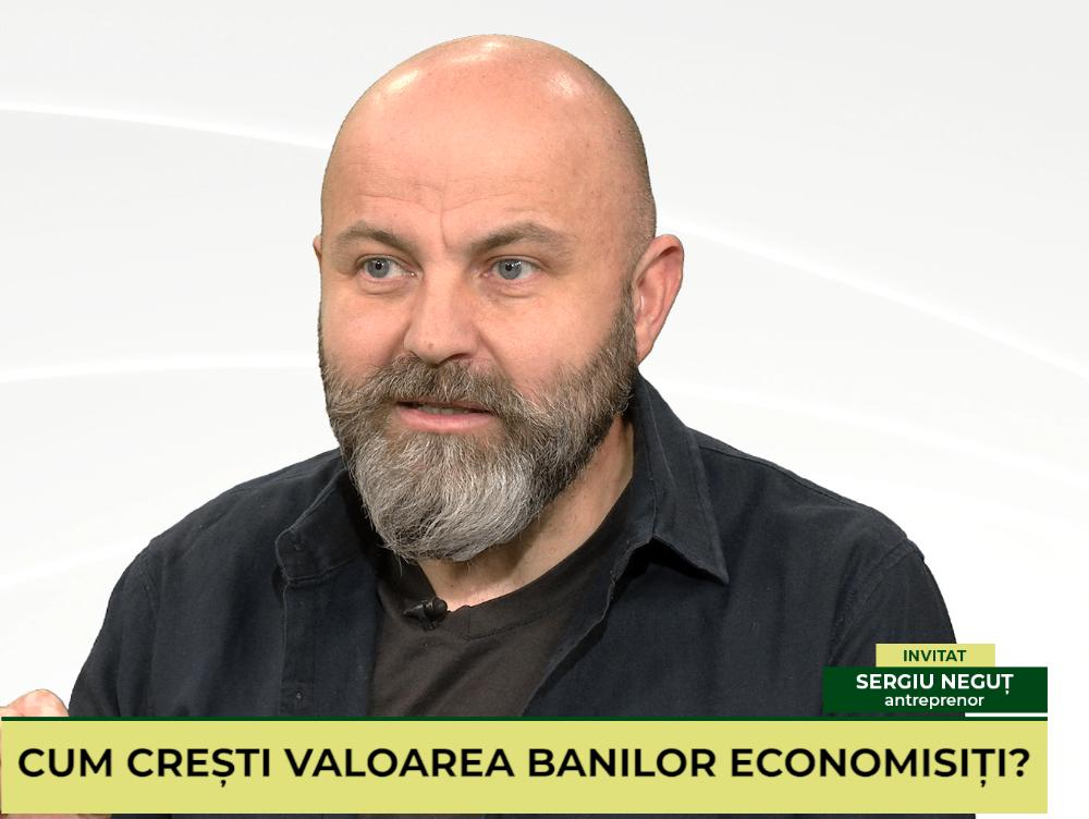 """IEŞI PE PLUS VIDEO. Despre antreprenoriat şi investiţii """"cu cap"""". Invitat: Sergiu Neguţ, antreprenor, investitor şi(...)"""