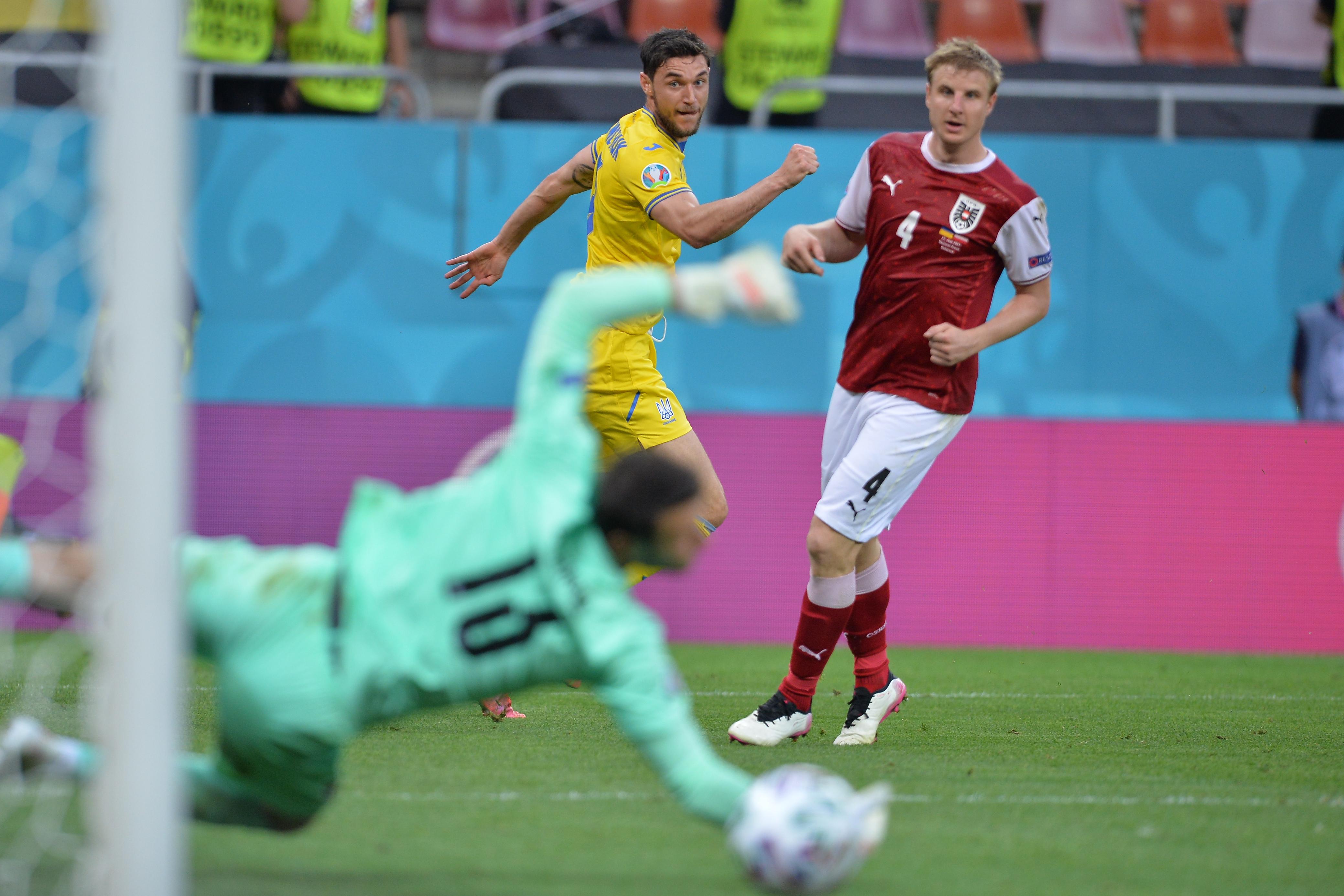 Austria a învins Ucraina la Bucureşti şi s-a calificat în optimile EURO 2020
