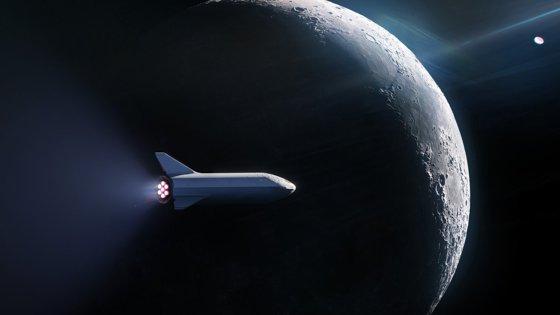 """Imaginea articolului Primul zbor privat în spaţiu. Space X a semnat cu un pasager """"misterios"""" pentru o excursie în jurul lunii"""