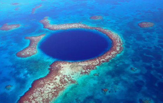 The article's The alarming discovery made by explorers at the bottom of Belize's Blue Holes, one of the natural wonders of the planet