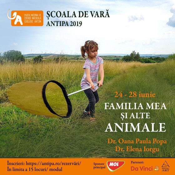 """Imaginea articolului """"Familia mea şi alte animale"""", primul modul de vacanţă al Şcolii de Vară de la Antipa, debutează luni"""