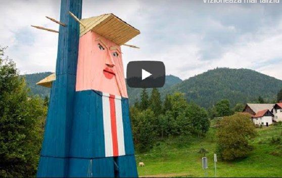 Imaginea articolului O statuie care îi seamănă izbitor lui Donald Trump, ridicată în Slovenia, ţara de origine a soţiei preşedintelui | VIDEO