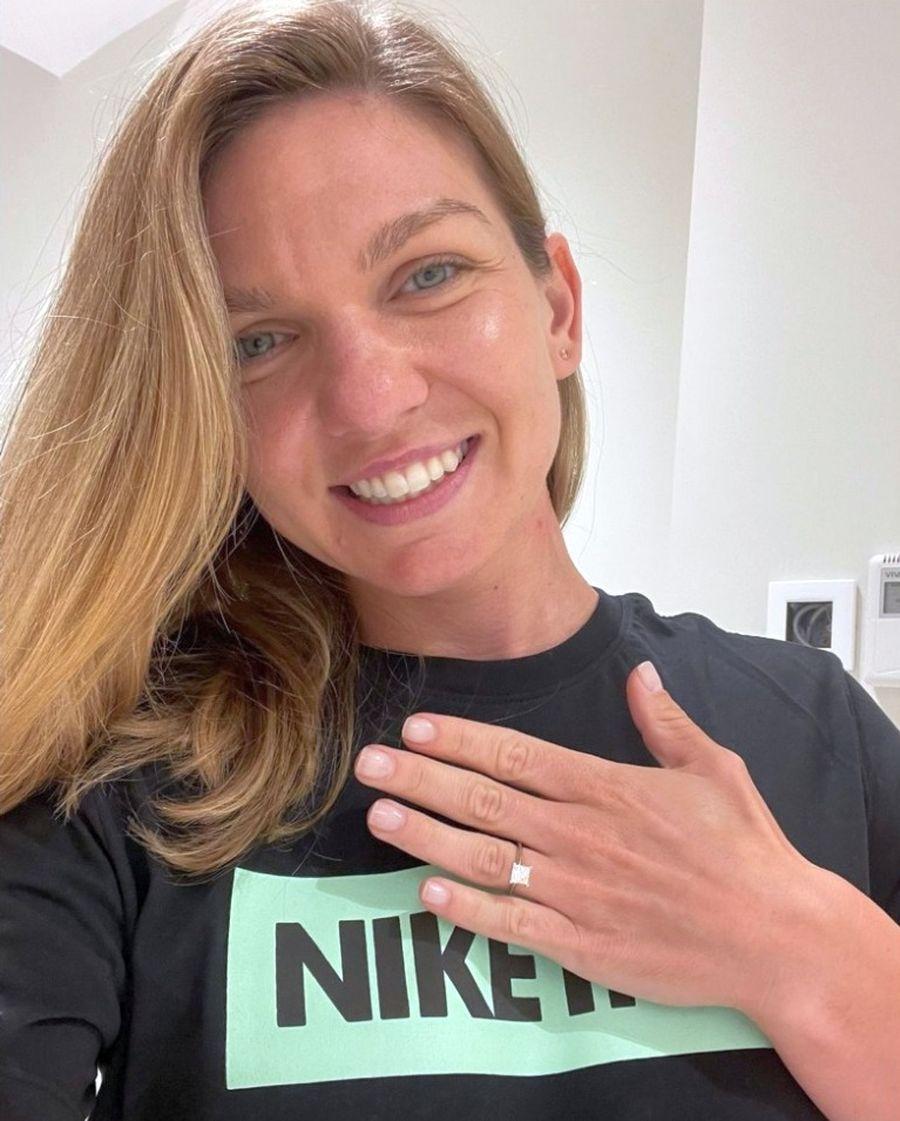 Simona Halep, gata de nuntă. Sportiva a primit inelul de logodnă