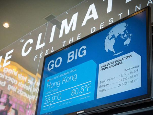 INEDIT: Simulatoare de vreme, instalate pe un aeroport din Stockholm - FOTO, VIDEO