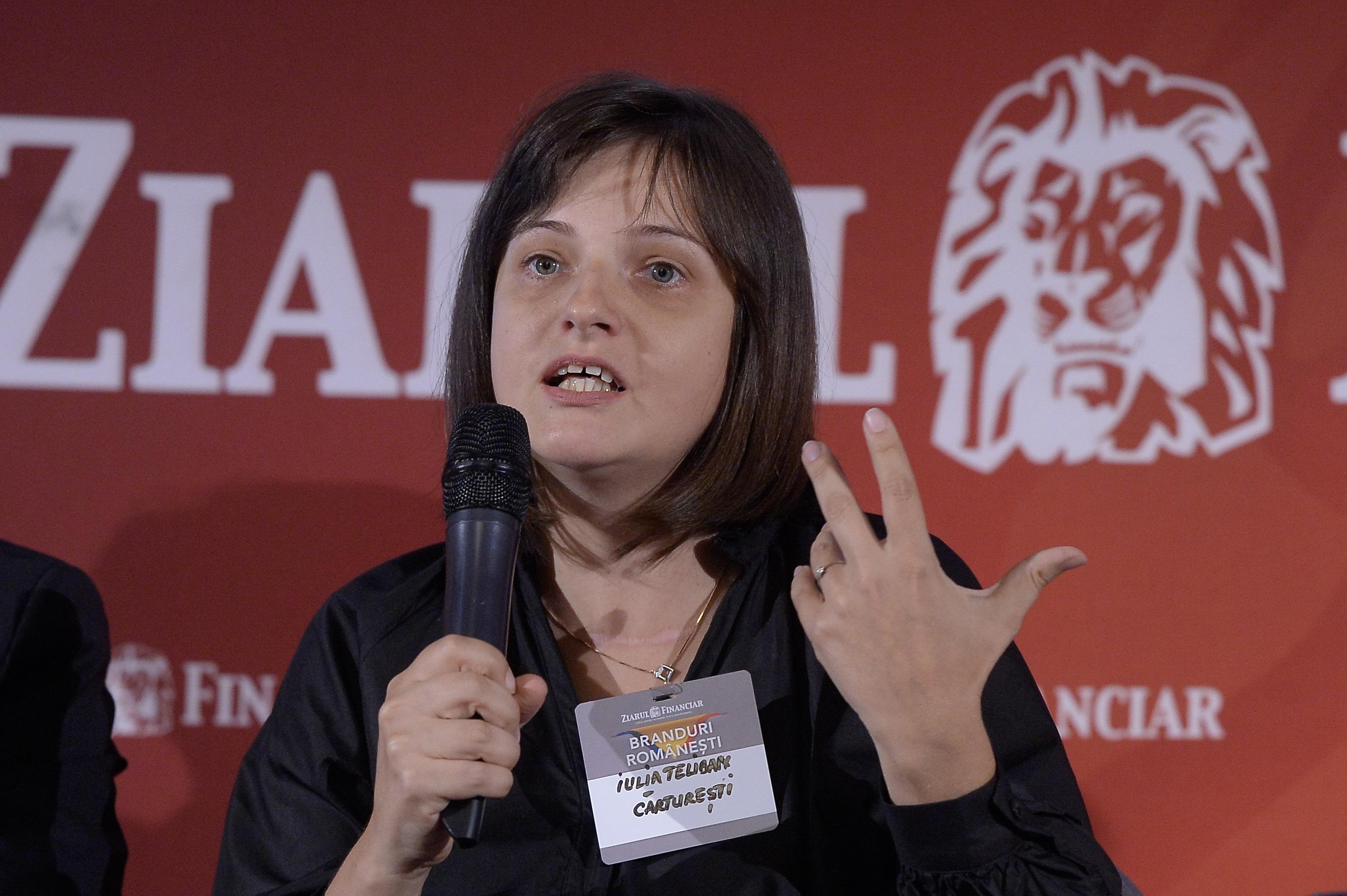 Iulia Teliban, Cărtureşti: Avem multe cereri să ieşim în pieţe externe, dar nu avem planuri clare. Până acum am deschis în Chişinău