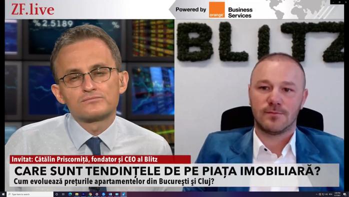 Preţurile imobiliarelor decolează. Cătălin Priscorniţă, CEO Blitz: Estimăm o creştere de 8%. VIDEO
