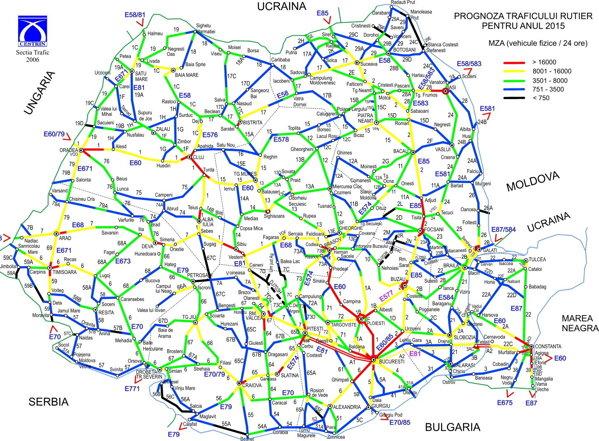 Cum Arăta In 2013 Harta Celor Mai Circulate Drumuri Din Romania