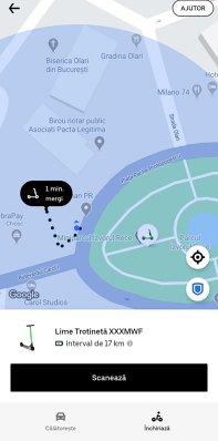 Trotinetele electrice Lime pot fi închiriate de astăzi direct în aplicaţia Uber în Bucureşti, în baza unui parteneriat între cele două platforme
