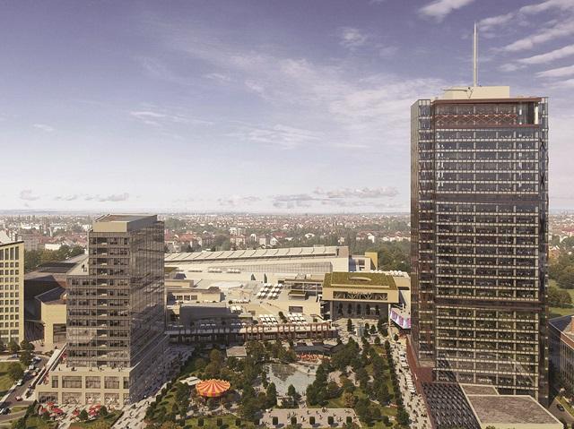 """Grupul Iulius inaugurează cea mai înaltă clădire de birouri din România cu doar 15 etaje în 2021. """"Clădirea va continua să fie ridicată până la cele 27 de etaje, cât va avea în total"""""""