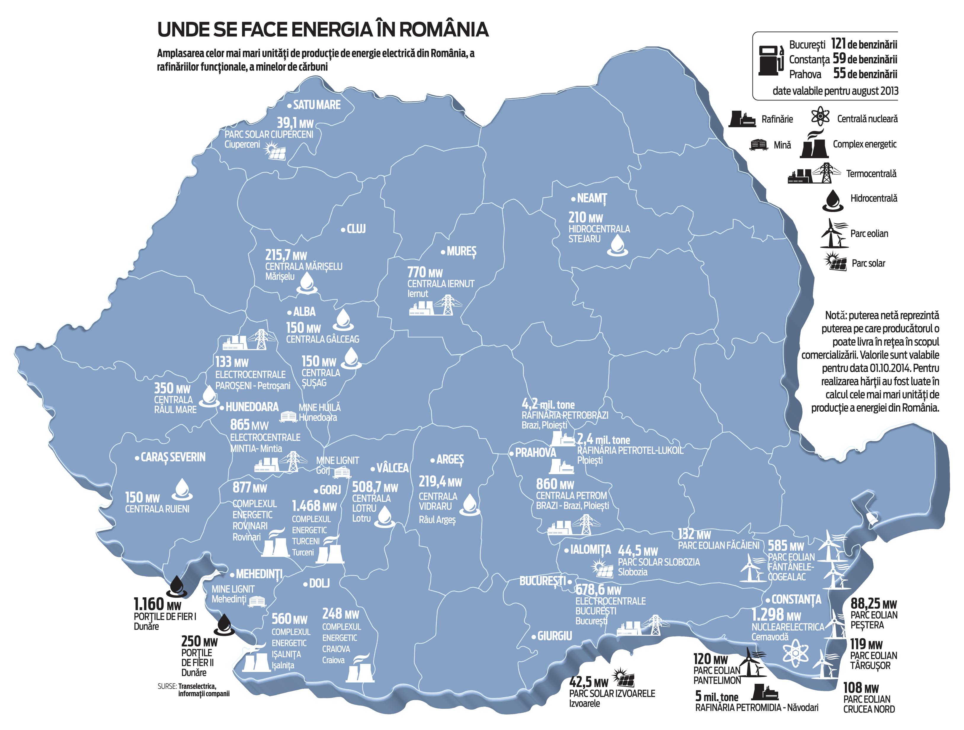 Harta Energiei Unde Sunt Cele Mai Mari Termocentrale Sau
