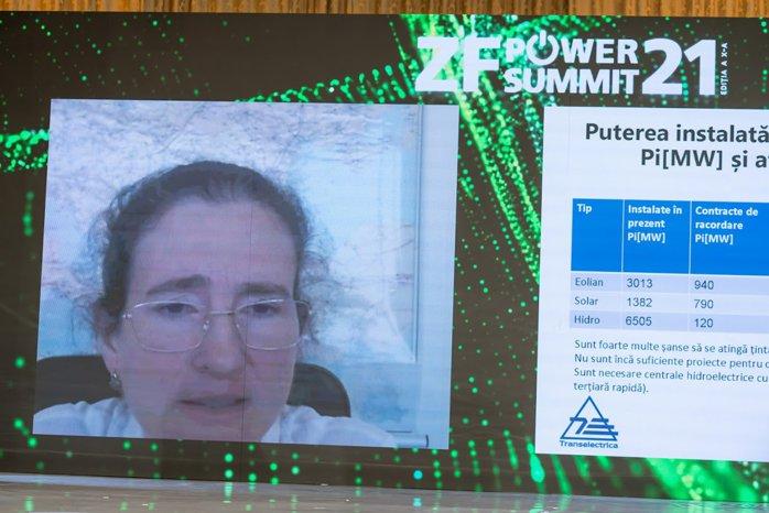 ZF Power Summit 2021. Daniela Bolborici, Transelectrica: România are un mix energetic diversificat. În 2019, producţia de energie electrică din surse regenerabile a fost de 42%