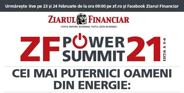 Cum creşte economia României din tranziţia energetică? Aflaţi astăzi la ZF Power Summit 2021, începând cu ora 09.00