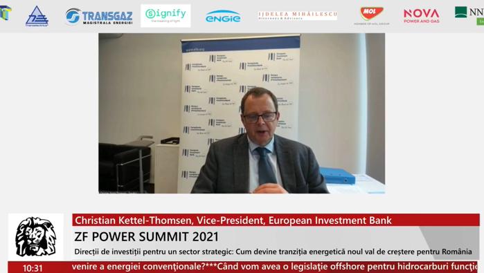 Christian Kettel-Thomsen, Vice-President, European Investment Bank: Sprijinim tranziţia la energie verde. Ne aşteptăm ca legislaţia României să sprijine investiţiile pe termen lung