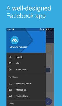 Aplicaţia săptămânii: Metal for Facebook
