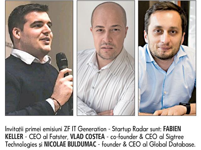 Urmează astăzi, începând cu ora 18:00, videoconferinţa ZF IT Generation - Startup Radar, organizată în parteneriat cu platforma de investiţii SeedBlink. Sesiuni pitch şi Q&A live cu start-up-urile tech Fatster, Sigtree Technologies şi Global Database