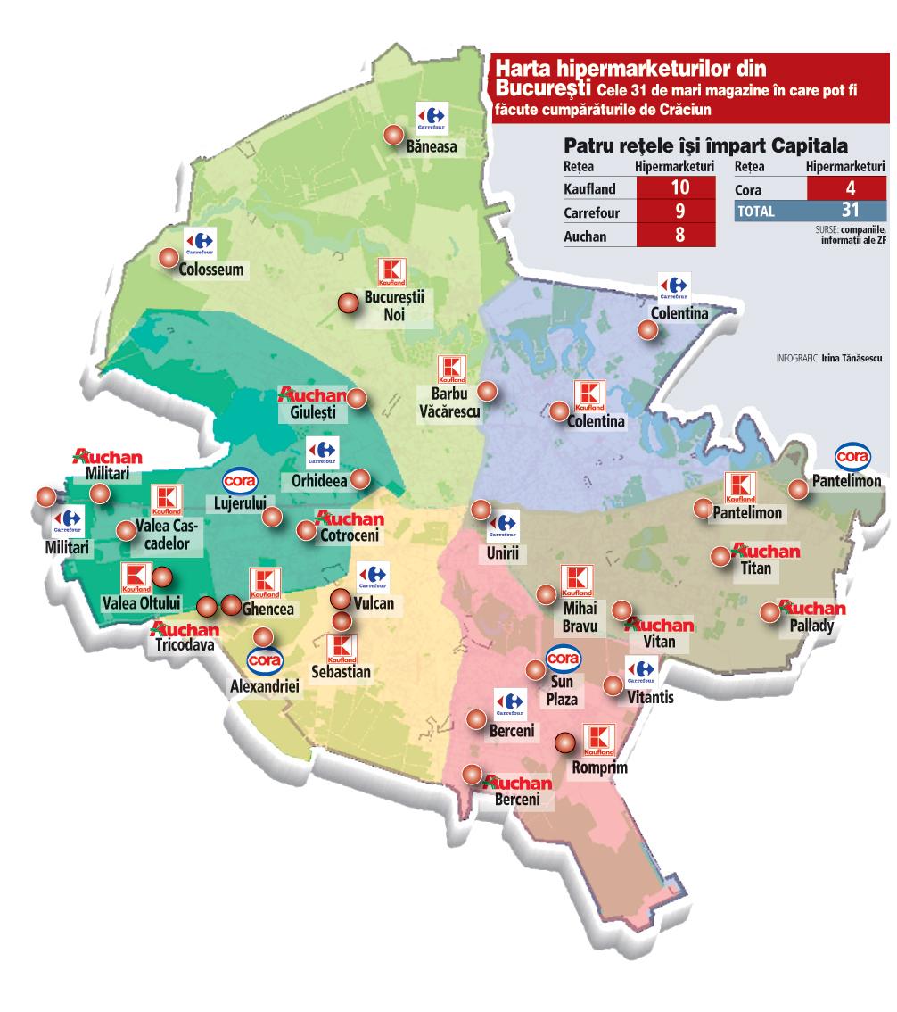 Harta Hipermarketurilor Din Bucuresti