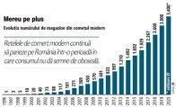 Grafic: Evoluţia numărului de magazine din comeţul modern (1996-2020)