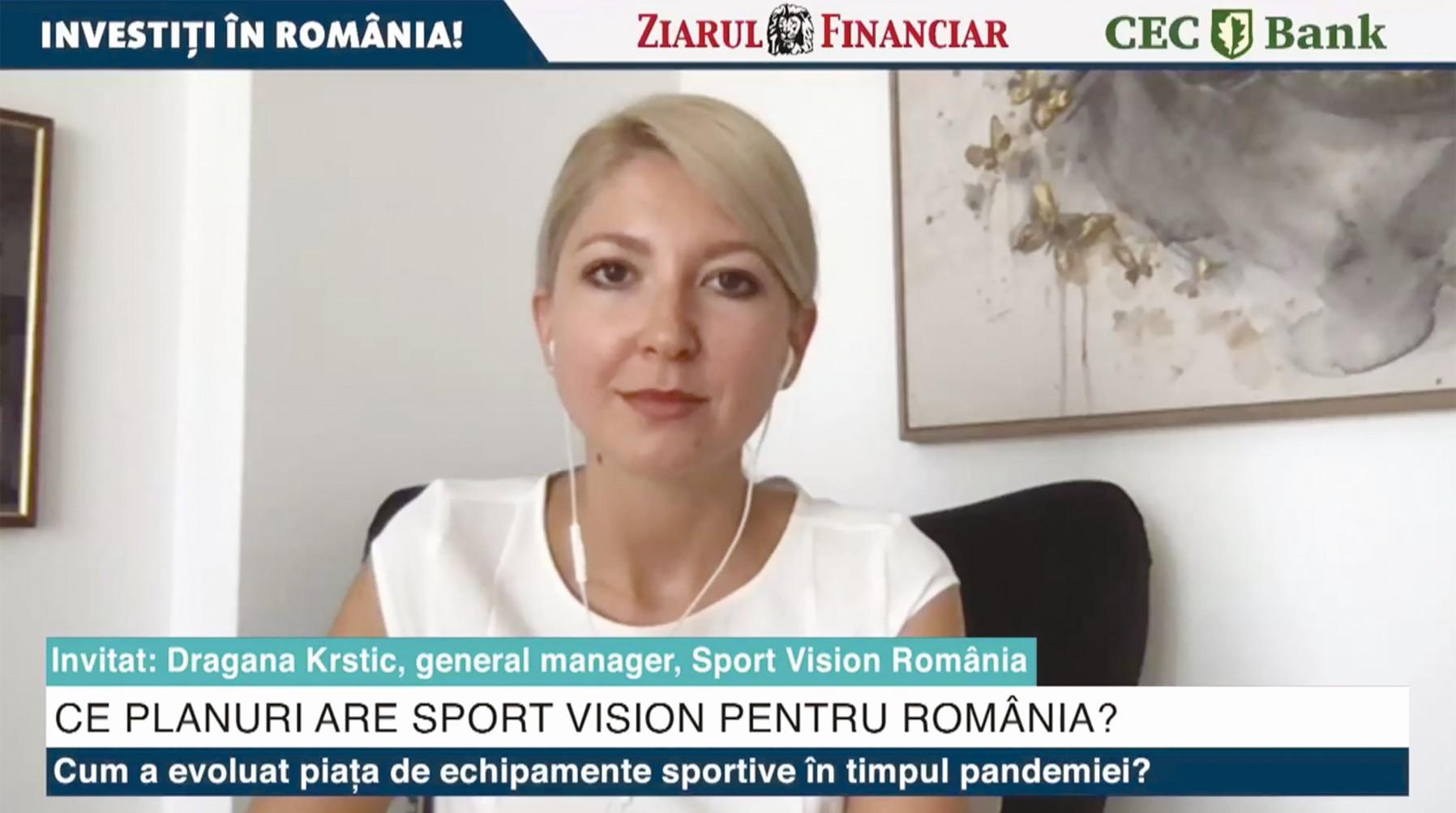 ZF Investiţi în România! Dragana Krstic, Sport Vision România: Am deschis  încă 4 magazine în ultimele luni şi continuăm extinderea. Vrem să ajungem  la 50 de locaţii în 2022