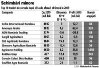 Grafic: Top 10 traderi de cereale după cifra de afaceri obţinută în 2019