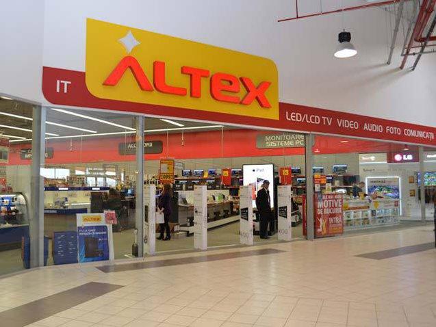 Altex deschide un magazin de 1.600 mp în centrul comercial AFI Braşov, cel mai mare mall inaugurat anul acesta în România. Investiţia trece de 1 mil. euro