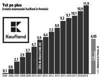 Grafic: Evoluţia businessului Kaufland în România