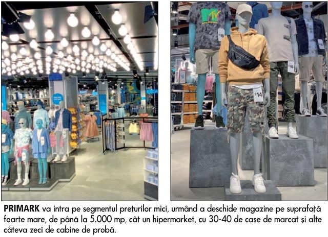 Cel mai important brand internaţional de modă care lipsea de pe piaţa locală, Primark, se pregăteşte să intre în România în 2022. Grupul irlandez este prezent pe 14 pieţe din lume, majoritatea din Europa, cu un total de circa 400 de magazine