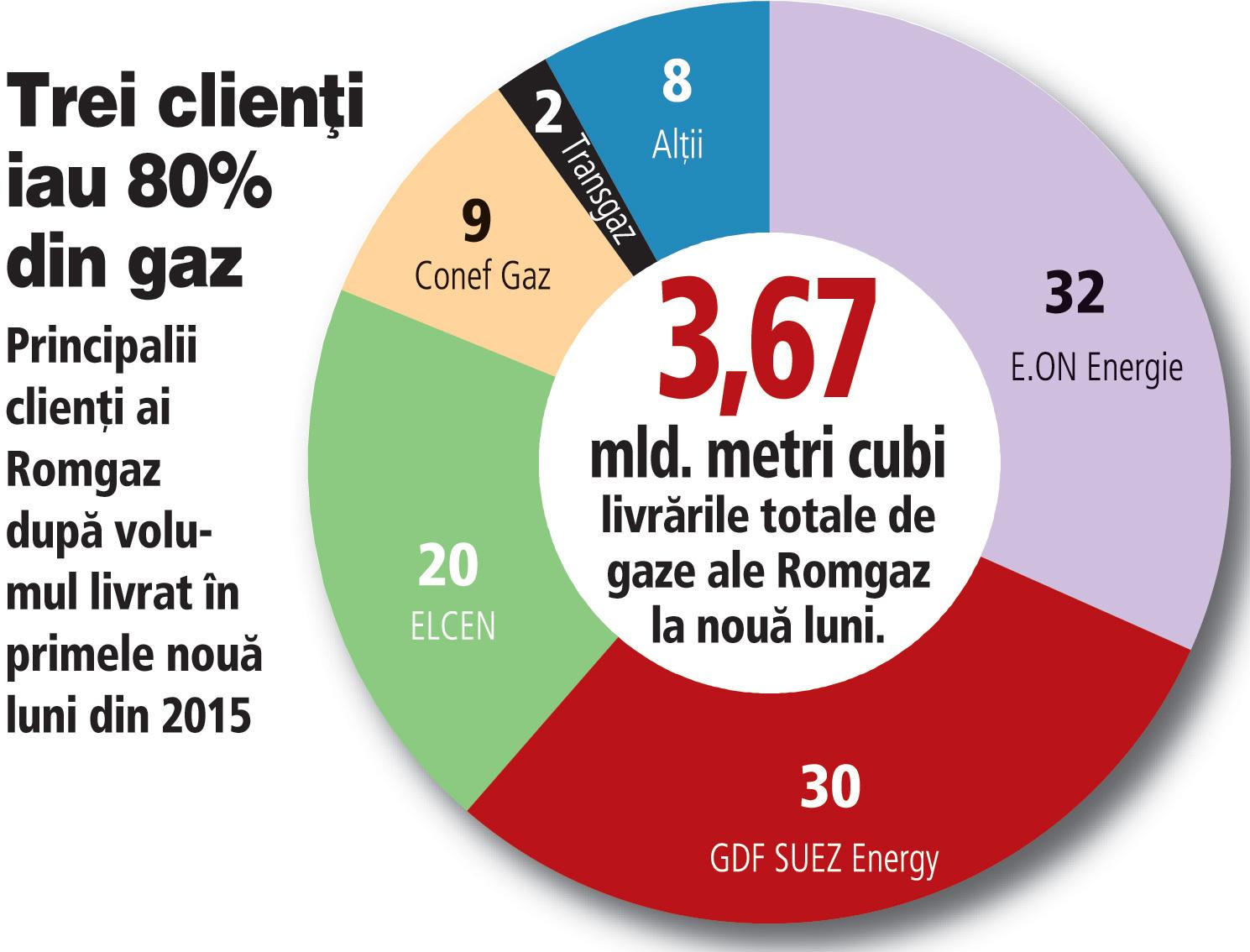 ELCEN Bucureşti consumă 20% din gazul produs de Romgaz, dar reprezintă jumătate din creanţe