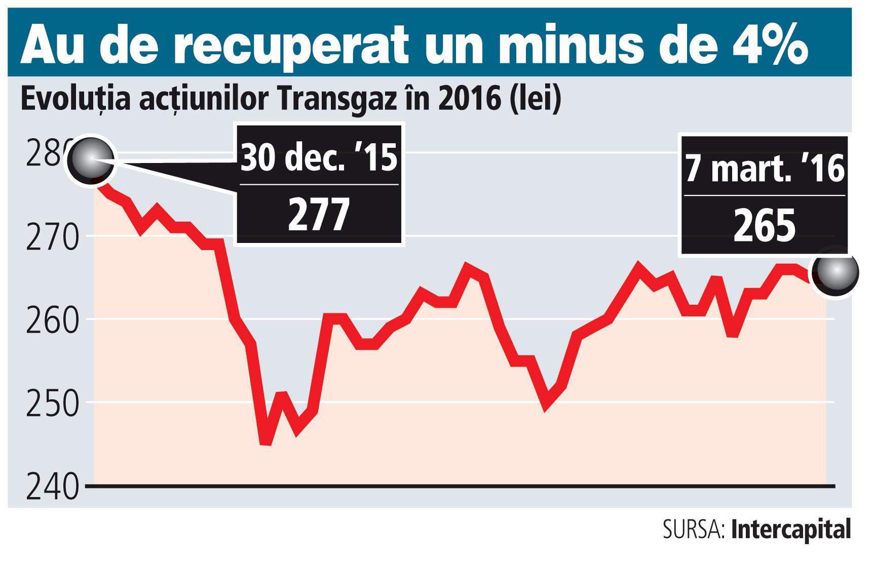 Transgaz şi-a bugetat un profit în scădere cu 16%
