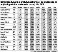 Cele mai performante acţiuni din indicele BET de la Bursă în primele şapte luni din 2020: TeraPlast Bistriţa (50%), Nuclearelectrica (28%) şi Transelectrica (12,3%)