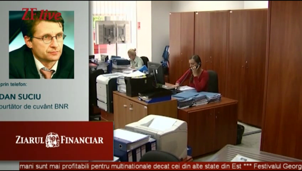 VIDEO. Dan Suciu, BNR, la ZF Live: Situaţia celor cu credite în franci elveţieni este neplăcută ...