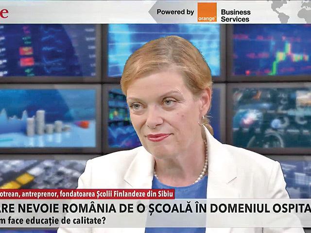 ZF Live. Elena Lotrean, Şcoala Finlandeză din Sibiu: Costul cursurilor pentru cei care vor să se specializeze în industria ospitalităţii variază între 1.800 şi 3.300 de euro