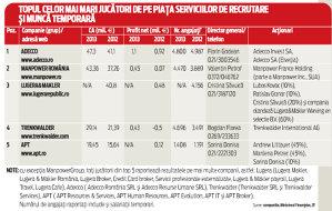 Cele mai mari companii de pe piaţa serviciilor în resurse umane