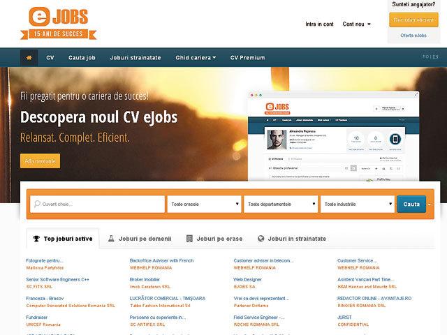 Ringier a preluat integral portalul de recrutare online eJobs şi-şi întăreşte poziţia în regiune