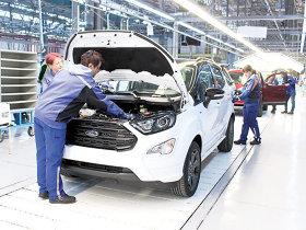 Ford România produce maşini de 2,5 mld. euro la Craiova în 2018