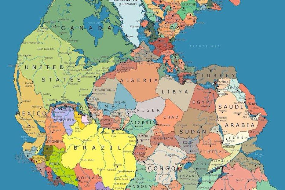 harta lumii Cum ar fi arătat HARTA LUMII dacă totul ar fi rămas ca acum 300 de  harta lumii