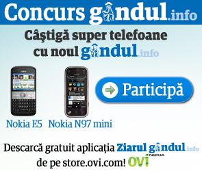 Castiga 15 telefoane mobile: 3 telefoane Nokia N97 mini si 12 telefoane Nokia E5