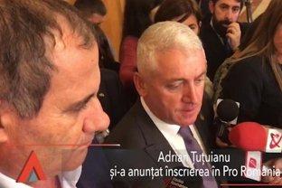 Adrian ŢUŢUIANU s-a înscris în partidul Pro România