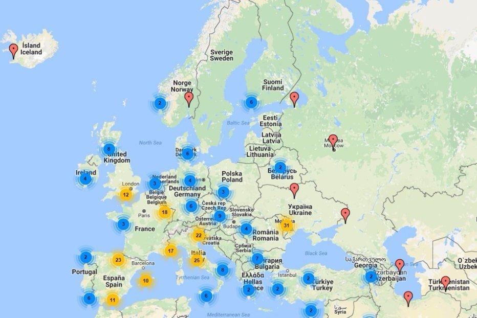 Harta Secţiilor De Votare Din Diaspora Unde Pot Vota Romanii Din