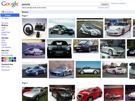 Google Images, o schimbare de design radicala
