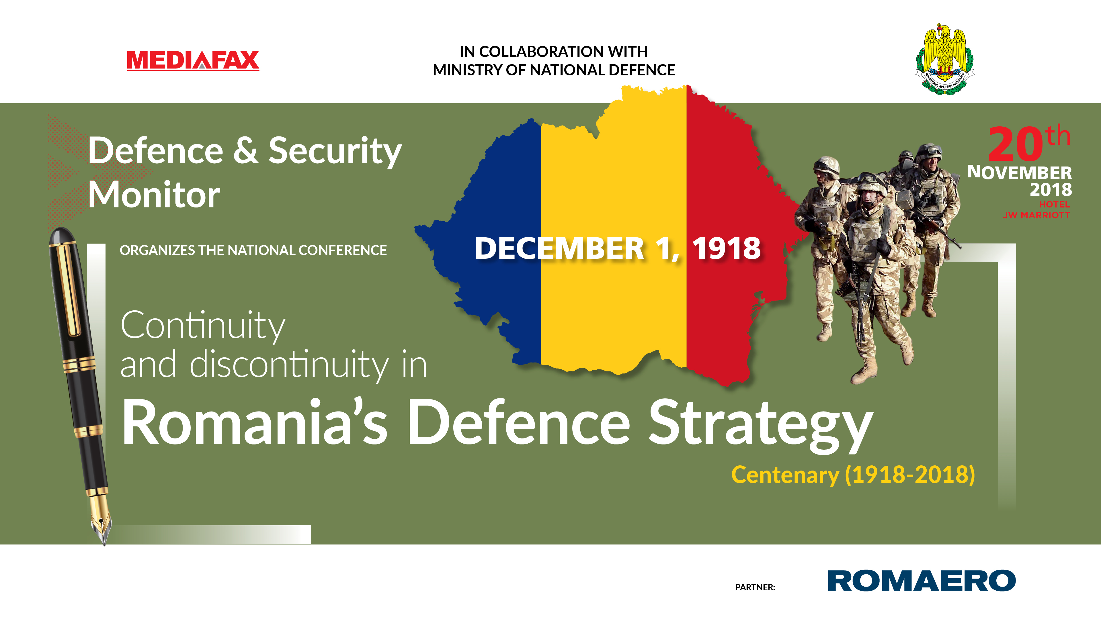 Continuity and discontinuity in Romania's defence strategy during the 100 years since Romania's Great Union