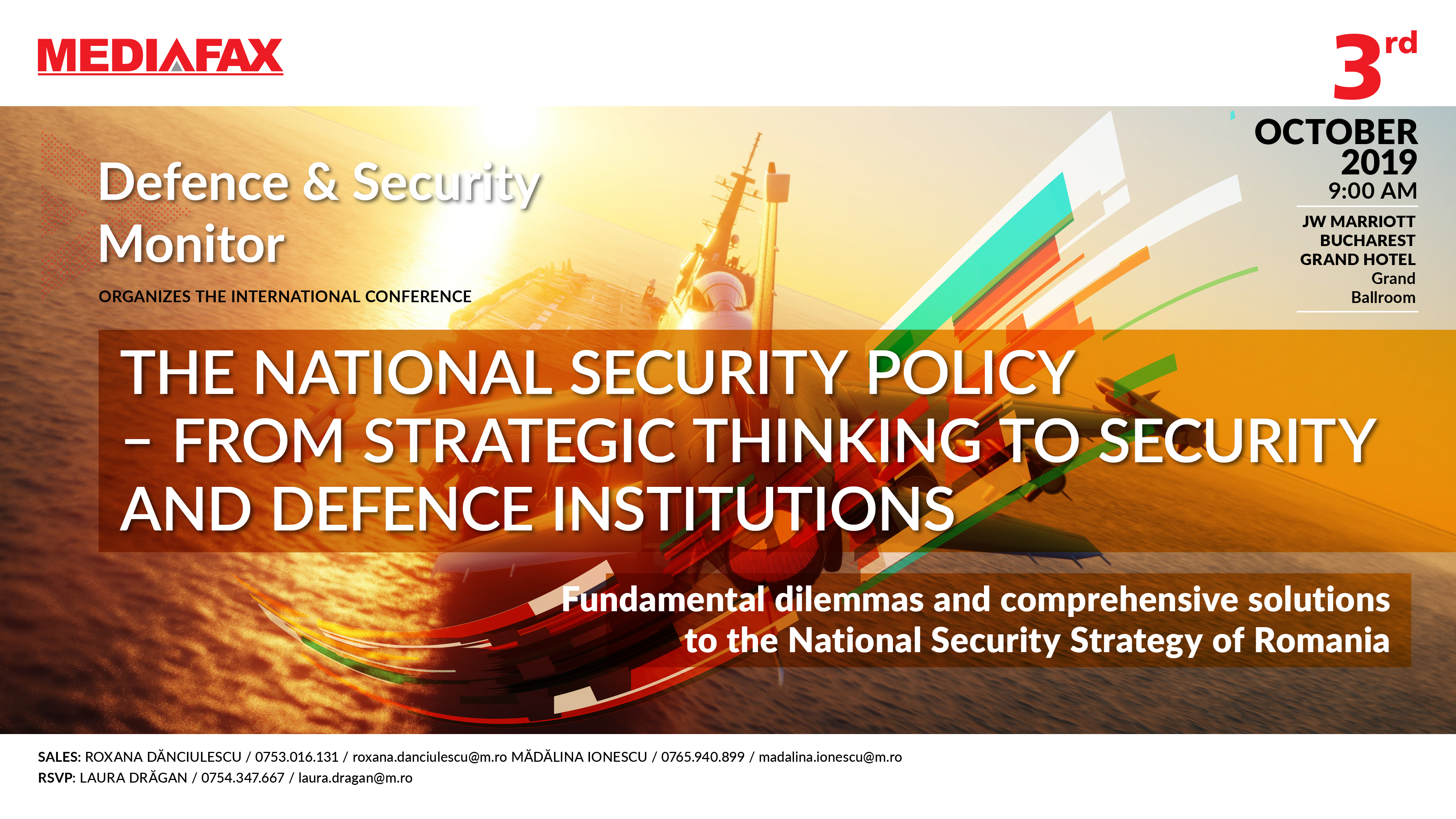Imagine Conferinta The national security policy - From strategic thinking to security and defence institutions