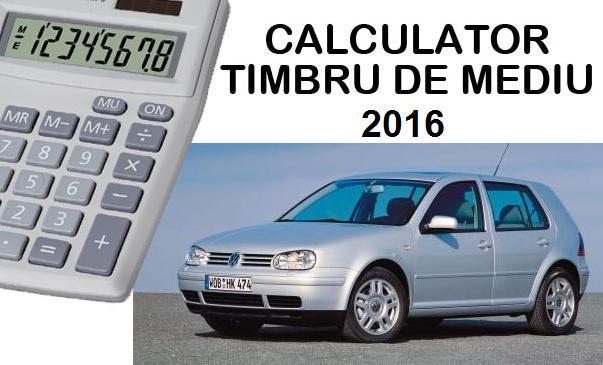 Taxa auto 2015: calculator timbru de mediu 2015 anaf.