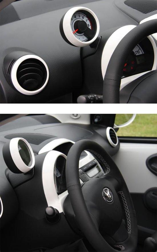 Toyota Aygo Fiber Carbon Kit on Toyota Honda