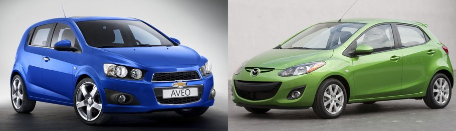 PARIS 2010. Chevrolet Aveo vs. Mazda2 facelift: 1 - 1.