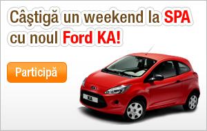 Castiga un weekend la SPA cu noul Ford KA