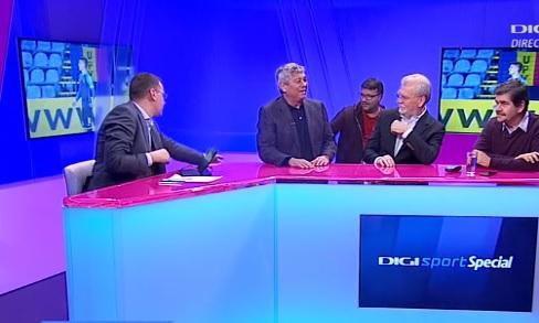 """Moment superb în direct la TV: Mircea Lucescu """"a dat buzna"""" peste moderator Åi cei doi invitaÅ£i. Scopul istoric al vizitei-fulger a lui """"Il Luce"""""""