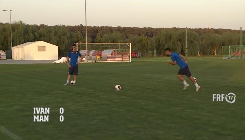 VIDEO   Andrei Ivan şi Dennis Man s-au întrecut la penalty-uri, după ce au făcut-o şi în Europa League. Cine a câştigat :)