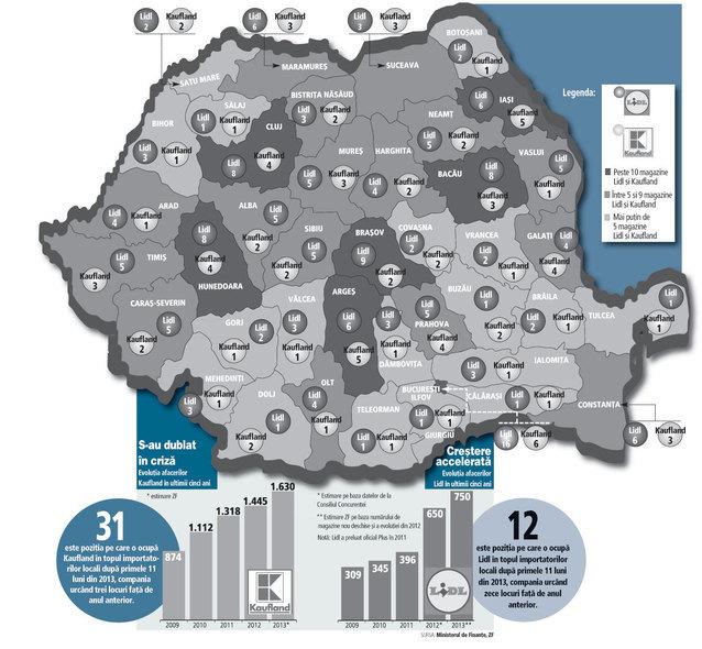 Harta Care Arată Cum Isi Impart Nemţii De La Kaufland Si Lidl